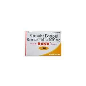 ranx tablet ranolazine 1000mg 1