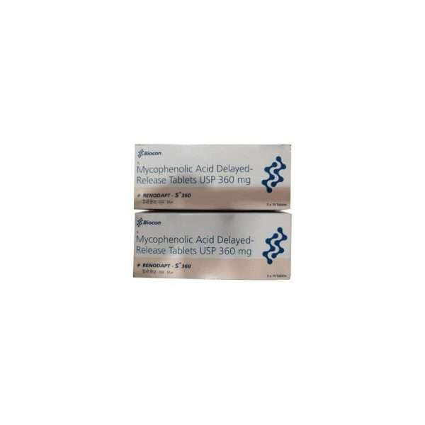 renodapt s tablet mycophenolate mofetil 360mg 1