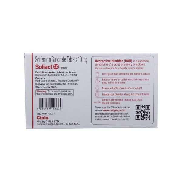 soliact tablet solifenacin 10mg 3