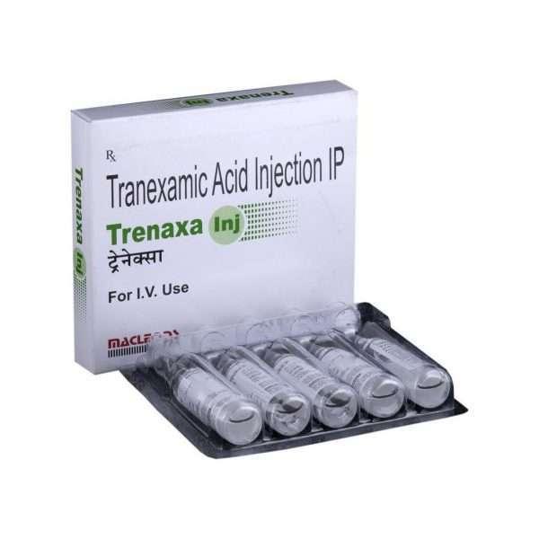 trenaxa injection tranexamic acid 500mg 1