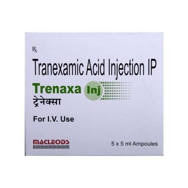 trenaxa injection tranexamic acid 500mg 3