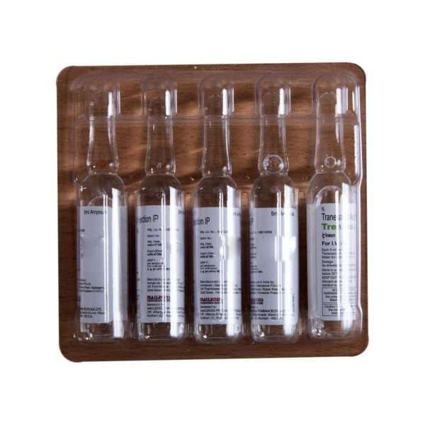 trenaxa injection tranexamic acid 500mg 5