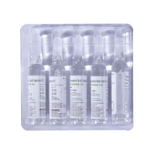 trenaxa injection tranexamic acid 500mg 7