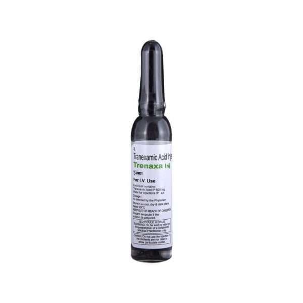 trenaxa injection tranexamic acid 500mg 8