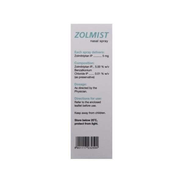 zolmist nasal spray zolmitriptan 5mg 3